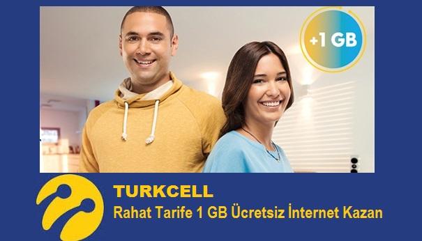 Turkcell Rahat 1 GB Ücretsiz İnternet Kazan