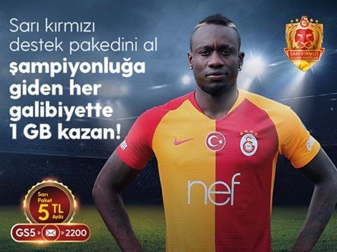 Şampiyon Galatasaray 1GB Bedava İnternet Kampanyası