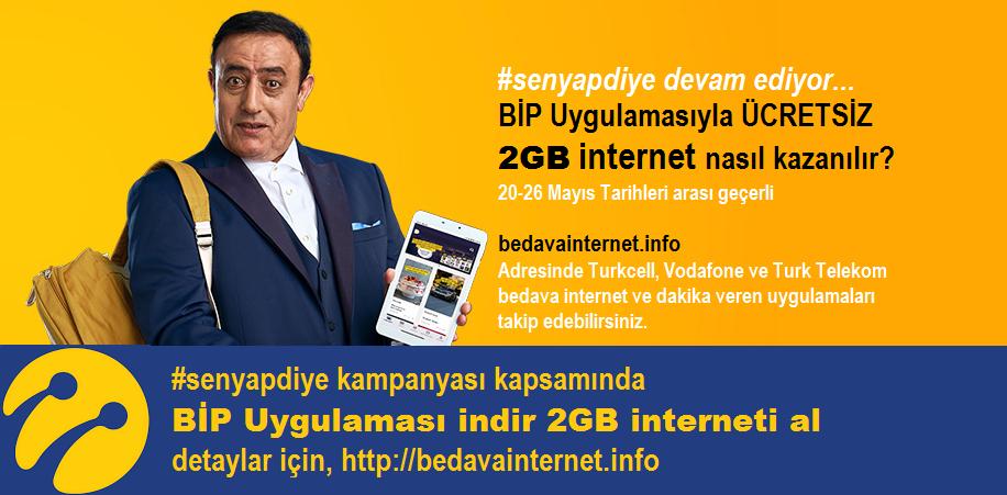 BİP Uygulaması İndirene Anında 2GB Ücretsiz İnternet