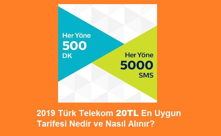 Türk Telekom 20TL En Uygun Konuşma SMS Tarifesi Nedir?