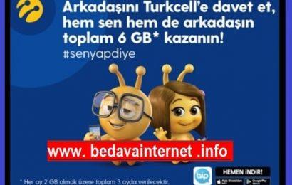 Turkcell Arkadaşını Davet Et 6GB Bedava İnternet Kazan