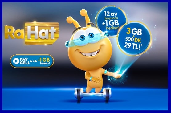 Photo of 2019 Turkcell En Ucuz Tarife Rahat Fırsat 3GB Paketi