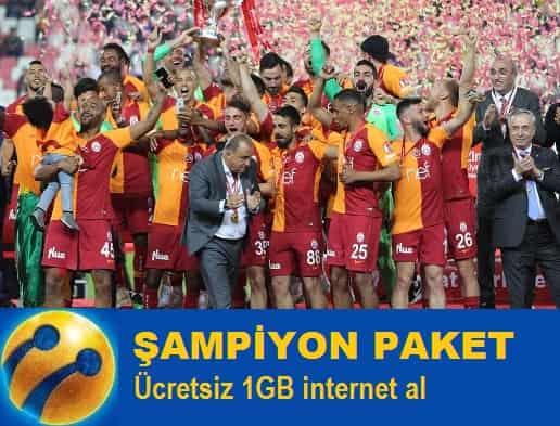 Turkcell Şampiyon paketlilere 1GB ücretsiz internet