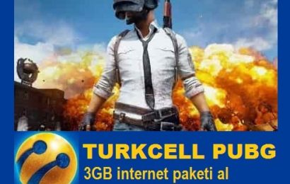 Turkcell Gaming PUBG 3GB internet paketi (pabci)