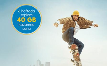 Turkcell 40 GB Kazan Kazandır Ücretsiz İnternet