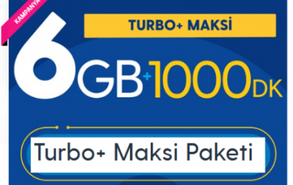 Turkcell 6 GB Turbo+ Maksi Paketi