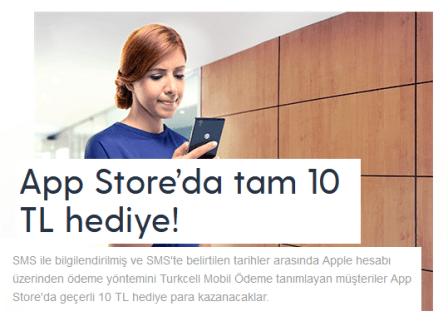 Turkcell APP Store 10 TL Hediye Çeki