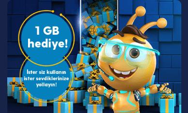 Turkcell Hediye Havuzu Günlük 1Gb İnternet