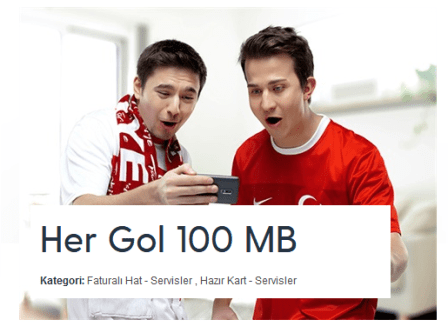 Photo of Turkcell Her Gol 100MB Ücretsiz internet