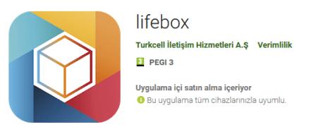 Turkcell Lifebox indir 1gb internet kazan