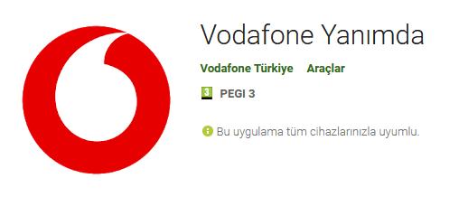Vodafone Yanımda Uygulaması indir