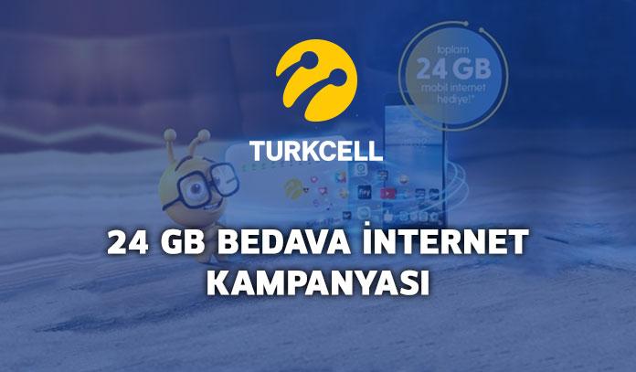 Turkcell 24 GB Hediye İnternet Kampanyası