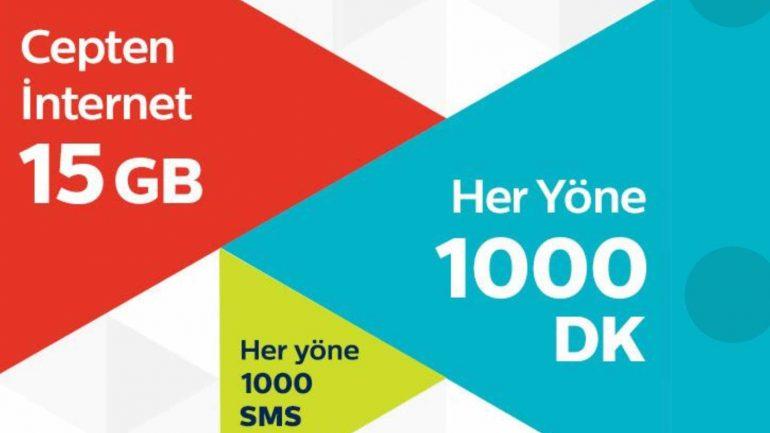 Türk Telekom Yeni Yıl Fırsatı 15 GB İnternet Paketi
