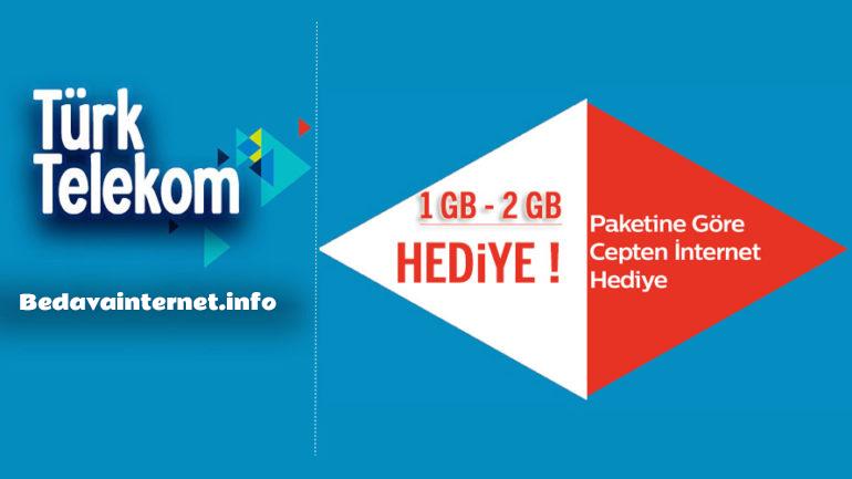 Türk Telekom Bedava İnternet Paket ve Tarifeler Ocak 2020