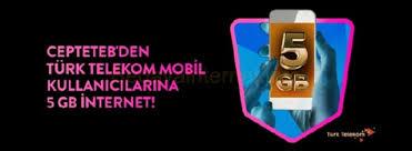 Photo of CEPTETEB ile Türk Telekom Müşterilerine 5 GB Bedava İnternet