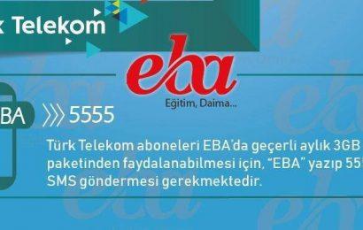 Türk Telekom EBA 3GB Hediye İnternet Nasıl Alınır?