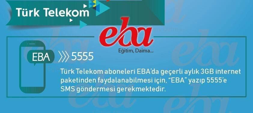 Photo of Türk Telekom EBA 3GB Hediye İnternet Nasıl Alınır?