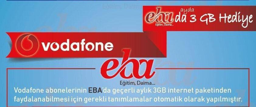 Vodafone EBA Bedava İnternet