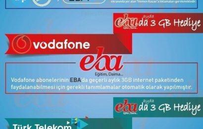 Vodafone Türk Telekom Turkcell EBA