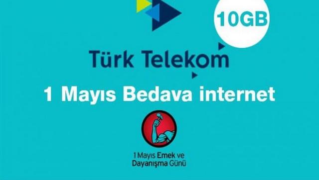 1 Mayıs Bedava İnternet Kampanyası