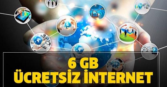 6 GB Bedava İnternet