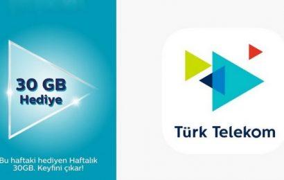 Türk Telekom'a Geçiş Kampanyası 30 GB Bedava İnternet Hediye 2020
