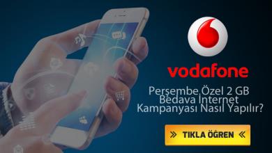 Photo of Vodafone Özel Perşembe Kampanyası İle Bedava İnternet