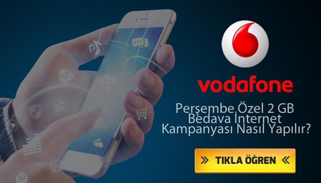 Vodafone Özel Perşembe Kampanyası İle Bedava İnternet