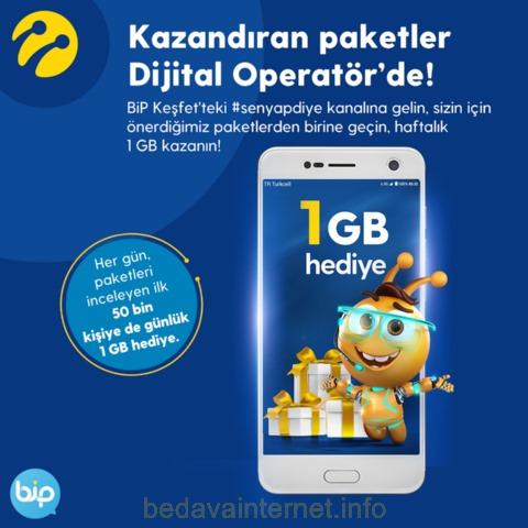 Turkcell Her Gün Bizce Uygulamasına Giren İlk 50 Bin Kişiye 1 GB Hediye