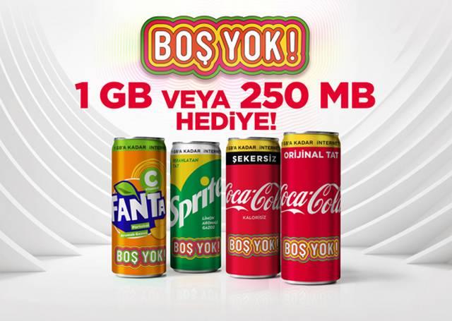 Coco Cola 1 GB Hediye İnternet Kampanyası