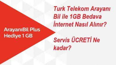 Photo of Türk Telekom Arayanı Bil İle 1 GB Hediye İnternet