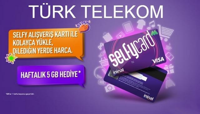Türk Telekom Selfycard İle 5 GB Bedava İnternet