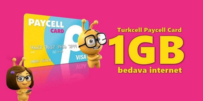 Turkcell Paycell İle 1 GB Bedava İnternet