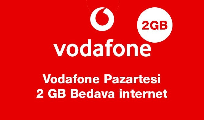 Vodafone Pazartesi TL Yükle Hediye İnternet Kazan